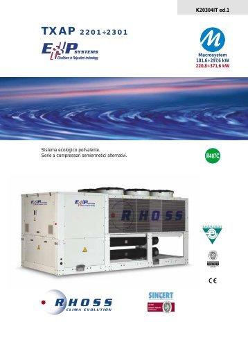 TXAP 2201÷2301 - Rhoss