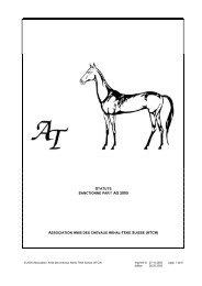 AG 2005 ASSOCIATION AMIS DES CHEVAUX AKHAL-TEKE SUISSE