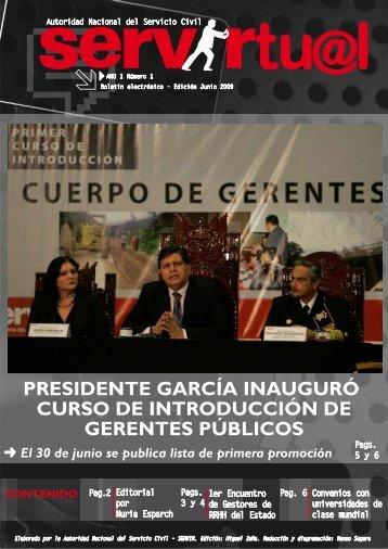 PRESIDENTE GARCÍA INAUGURÓ CURSO DE ... - Servir