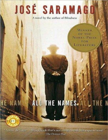 All The Names - Jose Saramago
