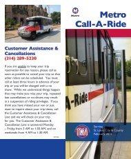 Metro Call-A-Ride brochure - Metro Transit