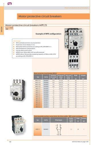 Motor protective circuit breakers - Eti-de.de