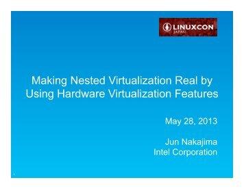 Nested Virtualization - The Linux Foundation