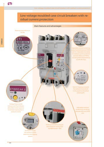 Low voltage moulded case circuit breakers with residual ... - Eti-de.de