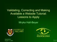 Validating, Correcting and Making Available a ... - Fp Ucalgary