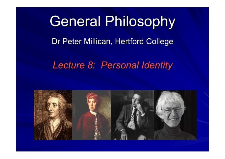 identity thesis philosophy Philosophy:theories of personal identity personal identity is the task of defining a property of a related university degree philosophy and theology essays.