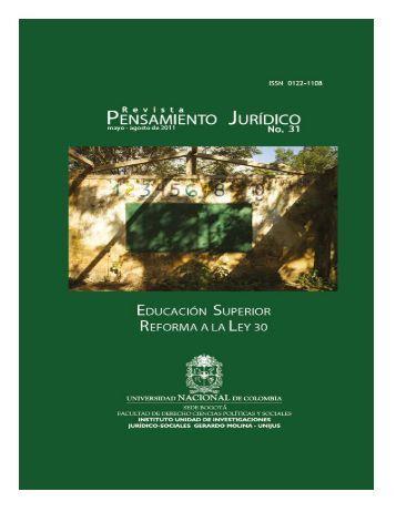 Pensamiento Juridico 31.indb - Facultad de Derecho, Ciencias ...