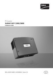 SUNNY BOY 3300/3800 - Installation Guide - Solarbag-Shop