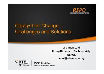Catalyst for Change : Challenges and Solutions
