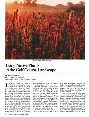 Using Native Plants in the Golf Course Landscape - USGA Green ...