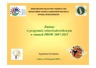 Program rolnośrodowiskowy w ramach PROW 2007 - 2013 ... - KSOW