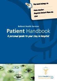 Patient Handbook - Ballarat Health Services