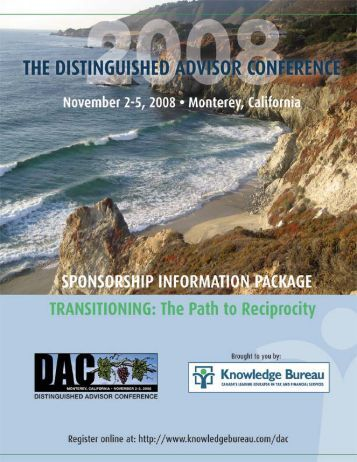 Sponsorship Package - Knowledge Bureau