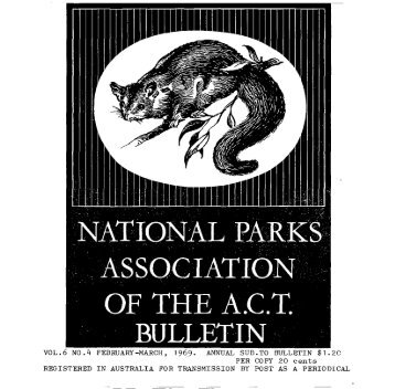 Vol 6 No 4 Feb-Mar 1969 - National Parks Association of the ACT Inc.
