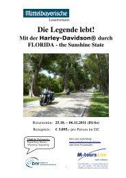Mit der Harley-Davidson® durch FLORIDA