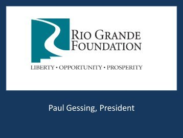 found here. - Rio Grande Foundation