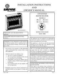 SR-18-3 - Thermal Equipment Sales Company