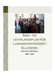 Års– og udviklingsplan for Landsbyordningen i ... - Ellidshøj Skole