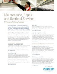 Maintenance Repair and Overhaul Services Fact - Invest Victoria