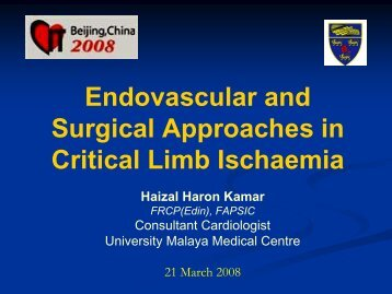Endovascular and Surgical Approaches in Critical Limb Ischaemia