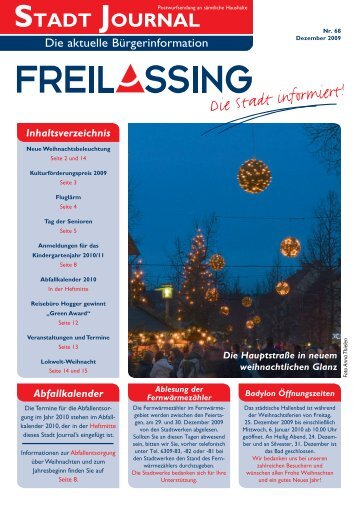 STADT JOURNAL - Stadt Freilassing