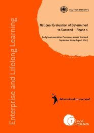 National Evaluation of Determined to Succeed – Phase 1 - Scottish ...