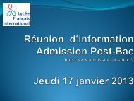 Présentation APB du 17 janvier 2013