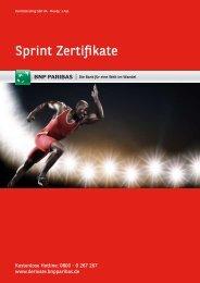 Sprint Zertifikate - BNP Paribas