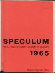 Speculum - University of Melbourne