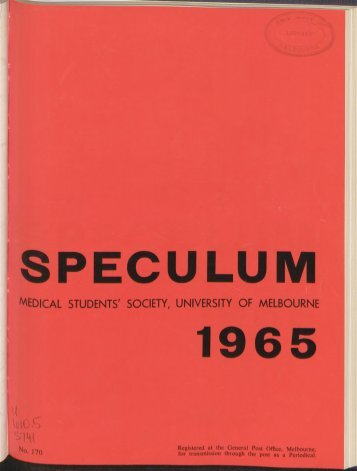 Speculum - University of Melbourne