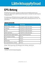 Lättviktsuppfyllnad EPS-Betong Dammreducerad - Finja