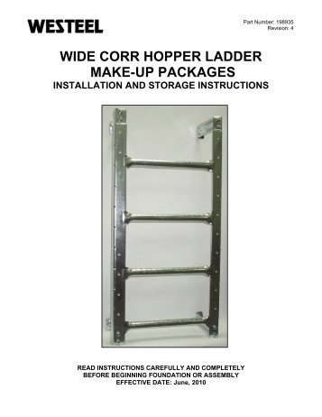 198935 Ladder Makeup Packages INSTALLATION ... - Westeel