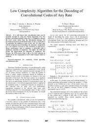 Low complexity algorithm for the decoding of convolutional codes of ...