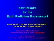 New Results for the Earth Radiation Environment - Wrmiss.org