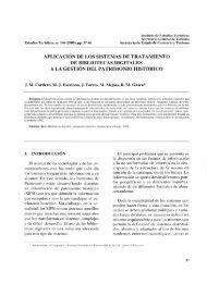 aplicación de los sistemas de tratamiento de bibliotecas digitales a ...