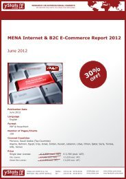 MENA Internet & B2C E-Commerce Report 2012 - yStats.com