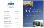 Founder's Day 2011 Program - Halifax Community College
