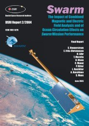 The Impact of Combined Magnetic and Electric ... - Geomagnetism