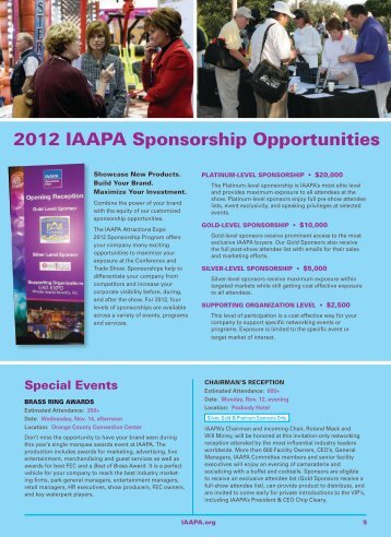 View IAAPA Attractions Expo Sponsorship Opportunites