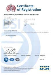 Certificate of Registration - SINUS Electronic