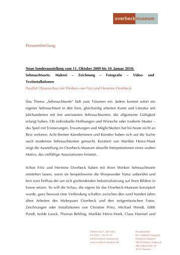 Pressemitteilung - Overbeck-Museum