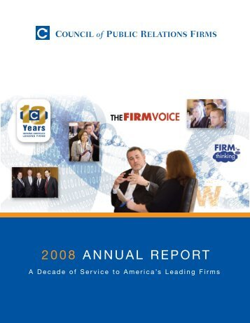 2008 ANNUAL REPORT - Council of Public Relations Firms