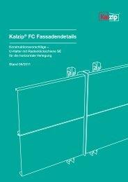 Kalzip® FC Fassadendetails