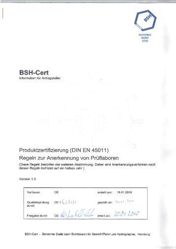 Regeln zur Anerkennung von Laboren (PDF, 500 KB) - BSH Cert