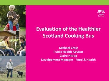 Evaluation of the Healthier Scotland Cooking Bus