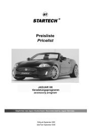 Preisliste Jaguar XK - XKR