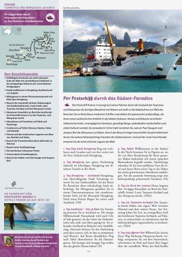 Per Postschiff durch das Südsee-Paradies
