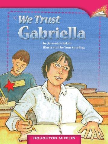 Lesson 9:We Trust Gabriella
