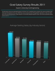 Grad Salary Survey Results 2011 - Queen's University - Faculty of ...
