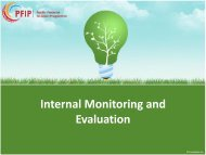 Internal Monitoring & Evaluation - Microfinance Pasifika